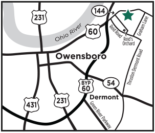 Owensboro Memorial Gardens Map